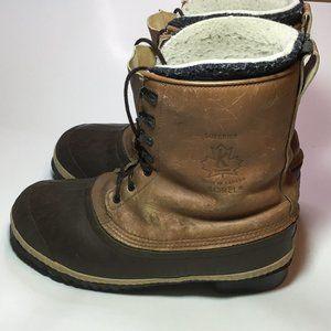 Sorel Superior Men's Snow Boots Brown Size 10 GUC